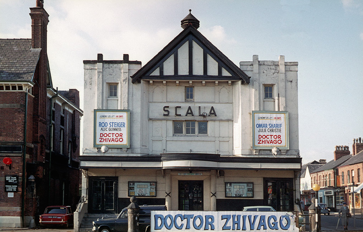 The Scala cinema on Wilmslow Road, Withington in October 1969. Built in 1912, the Scala was renamed Cine City and was demolished in 2008.
