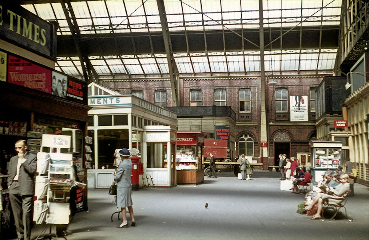 The concourse at Manchester Central Station in the mid-1960s