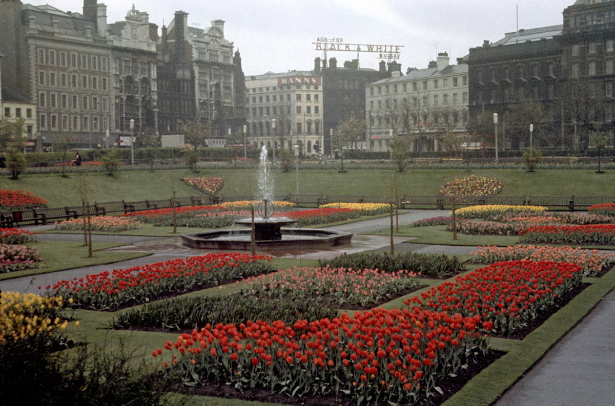 Piccadilly Gardens, Manchester, in the mid 1960s.