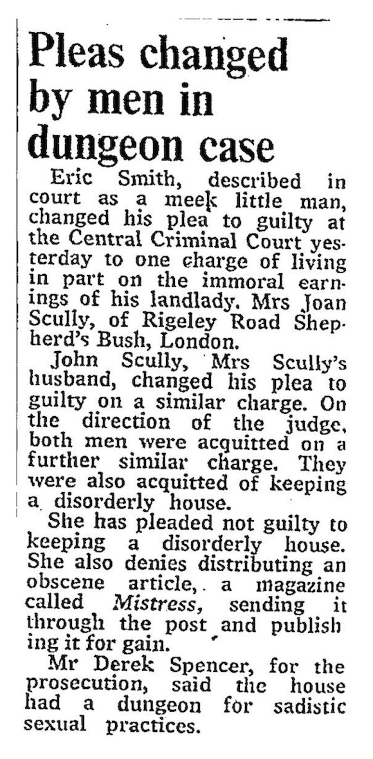 From The Times, September 25, 1974. Courtesy Matthew Worley