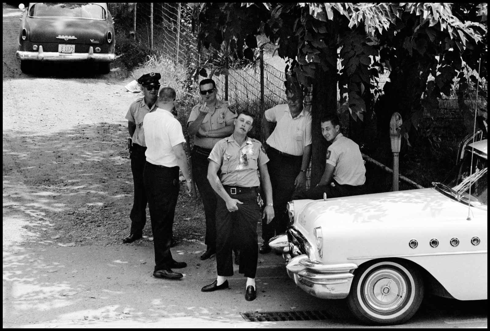 Danny Lyon/Magnum Photos Police in Clarksdale, Mississippi, 1963