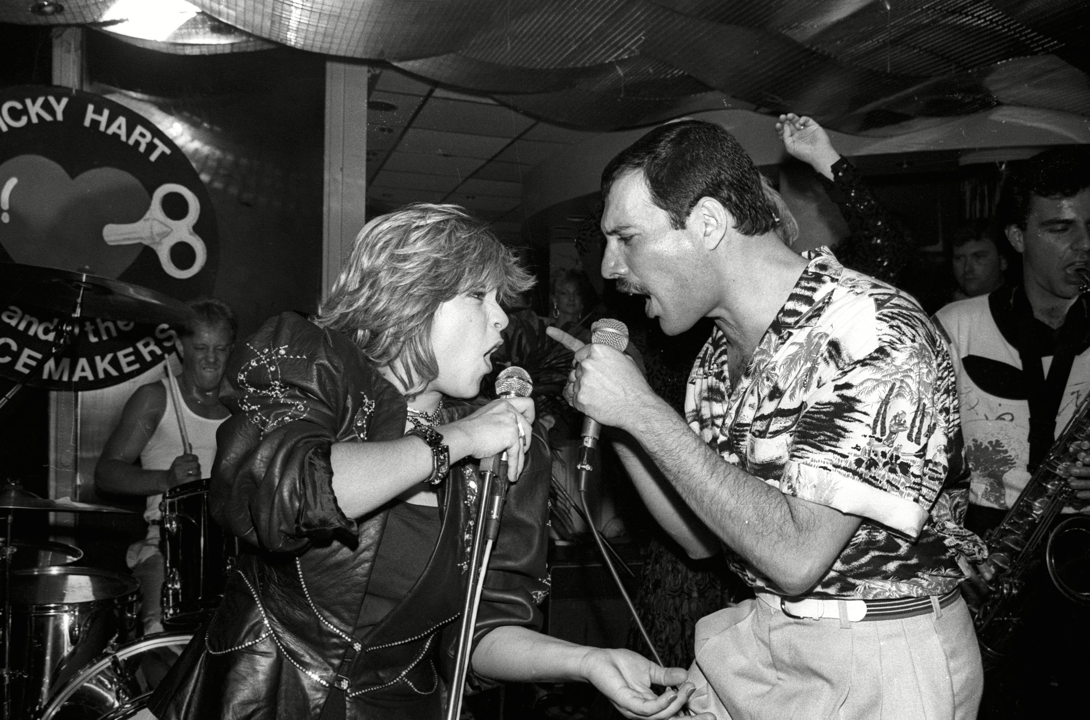Queen Hold A Private Concert and Party and Were Billed As 'Dicky Heart and the Pacemakers' at the Kensington Roof Gardens - 11 Jul 1986