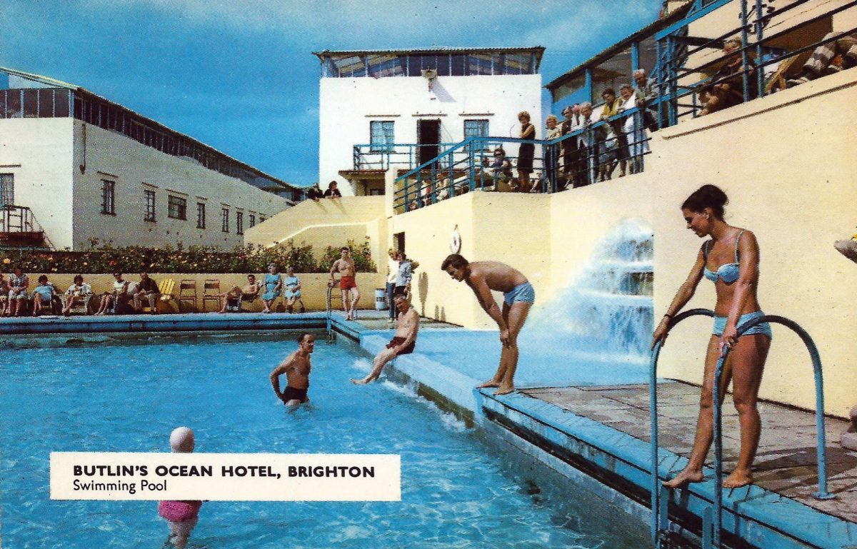 44 Glorious Postcards Of The Glamorous Butlin 39 S Ocean Hotel In Saltdean Flashbak