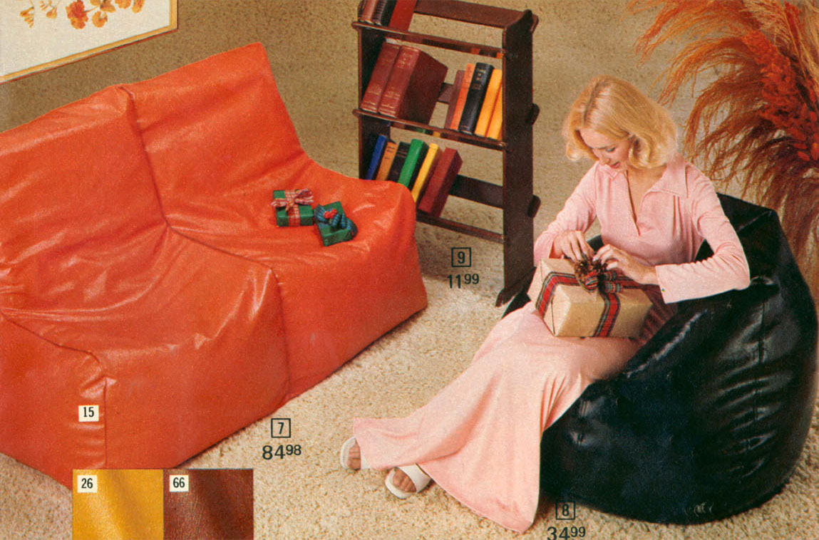 Super The Bean Bag Chair Comfy Sacks Of The Seventies Flashbak Inzonedesignstudio Interior Chair Design Inzonedesignstudiocom