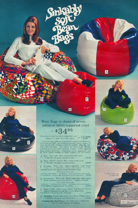 The Bean Bag Chair Comfy Sacks Of The Seventies Flashbak
