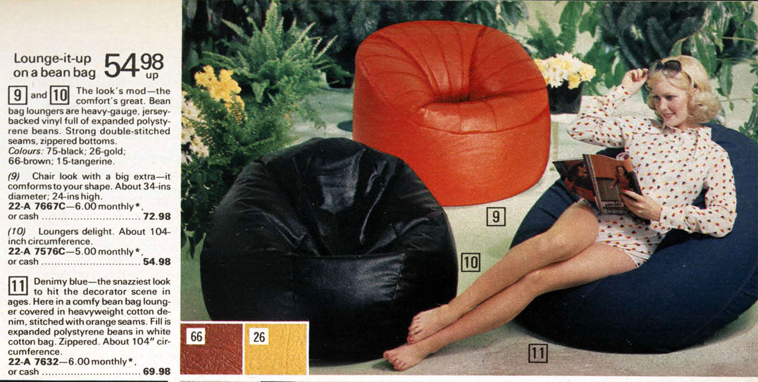Marvelous The Bean Bag Chair Comfy Sacks Of The Seventies Flashbak Andrewgaddart Wooden Chair Designs For Living Room Andrewgaddartcom