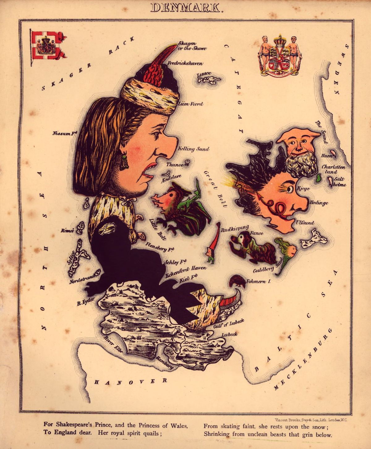 mapsGeographical fun : being humourous outlines of various countries, with an introduction and descriptive lines1860s