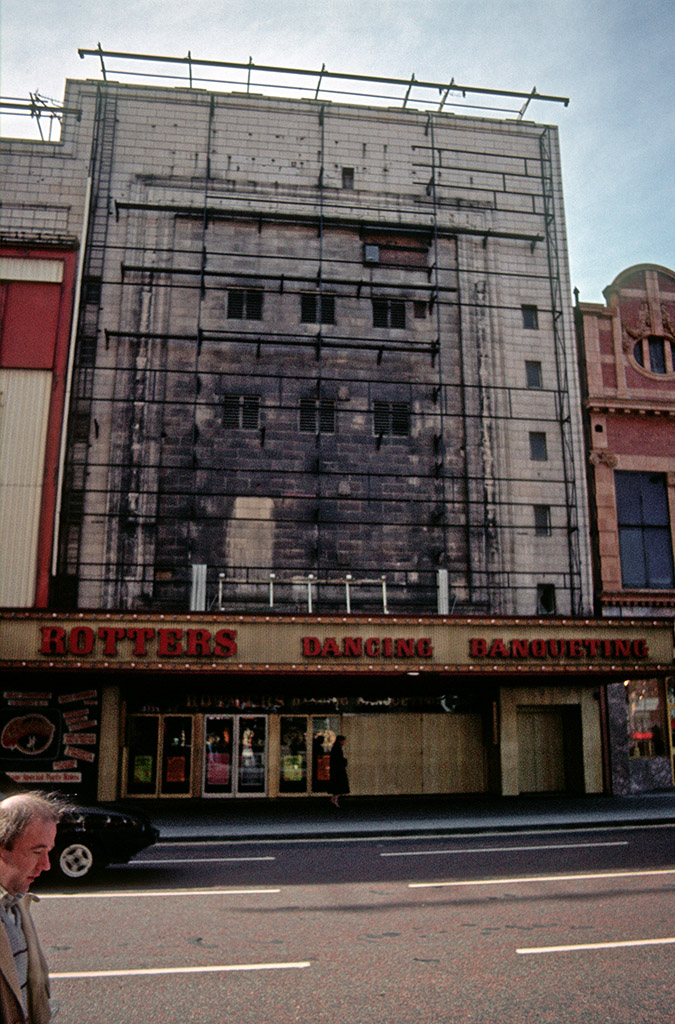 Rotters night club, formerly the Gaumont cinema on Oxford Street in 1987.