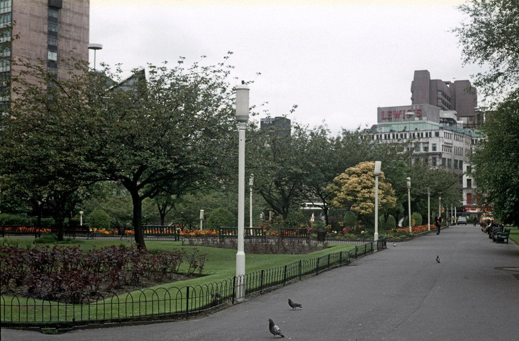 Piccadilly Gardens, Manchester, in 1983.