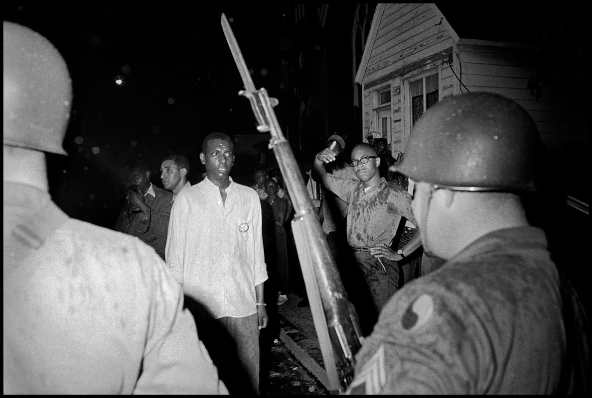 USA. Cambridge, Maryland. Spring 1964. Stokely CARMICHAEL and the Maryland National Guard.
