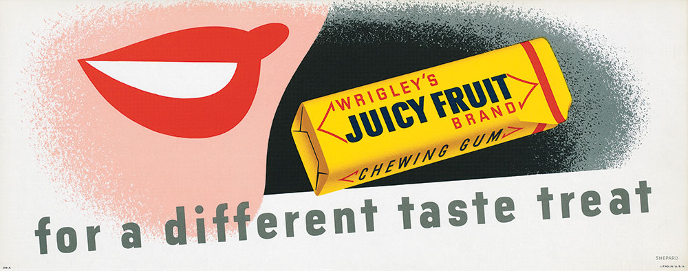 A Juicy Fruit ad by Otis Shepard from the late-1940s.