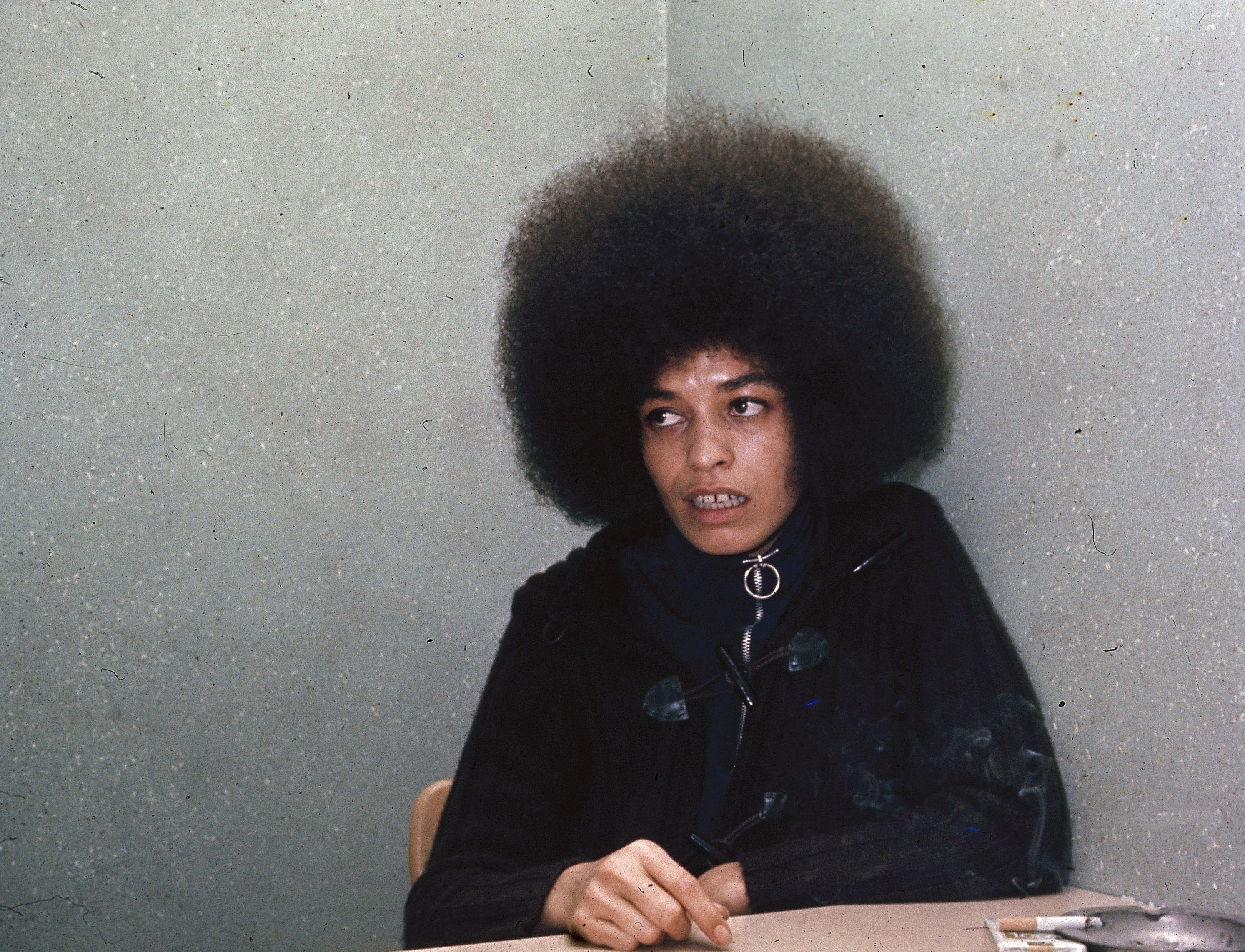 Radical spokeswoman Angela Davis is shown in 1971 Angela Davis, USA