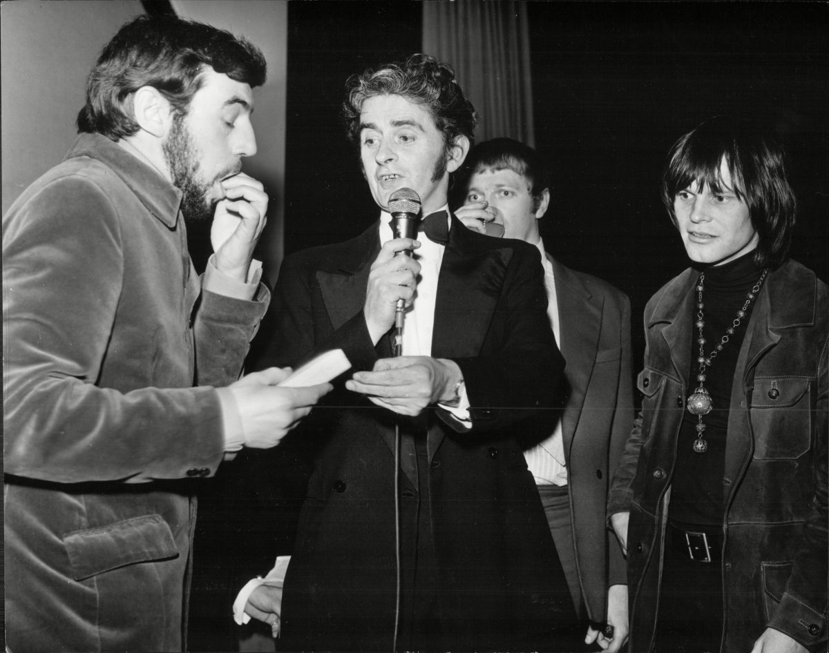 Terry Jones, Graham Chapman and Terry Gilliam at The Weekend Mail Ball - 1970