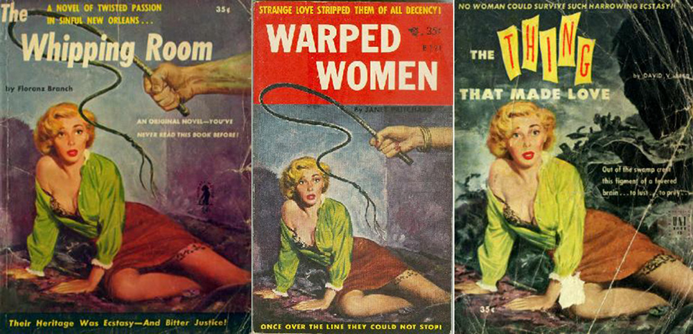 Wall art The Empty Bed : Vintage pulp book cover reproduction. poster