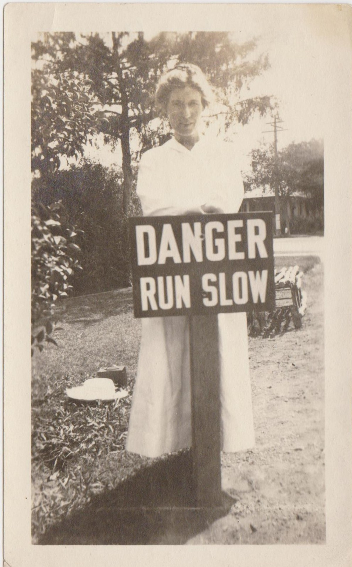 women with signs vintage snapshots