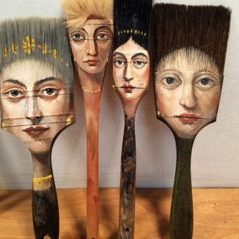 Artist Alexandra Dillon Paints Classic Portraits On Everyday Objects
