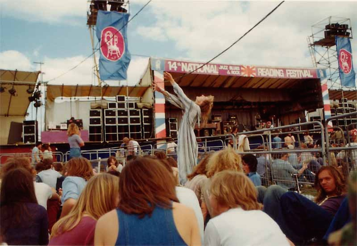 Jellett at Reading Festival, 1974 (Source- Vin Miles, UK Rock Festivals)