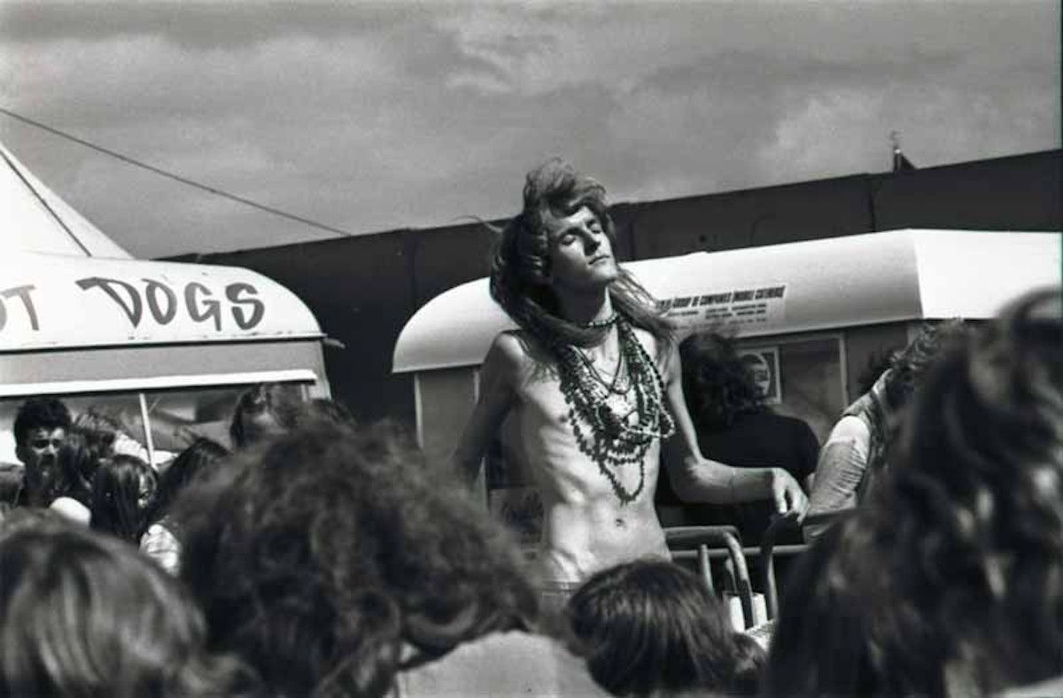 Jellett at the Reading Festival, 1974 (Source- Vin Miles, UK Rock Festivals)