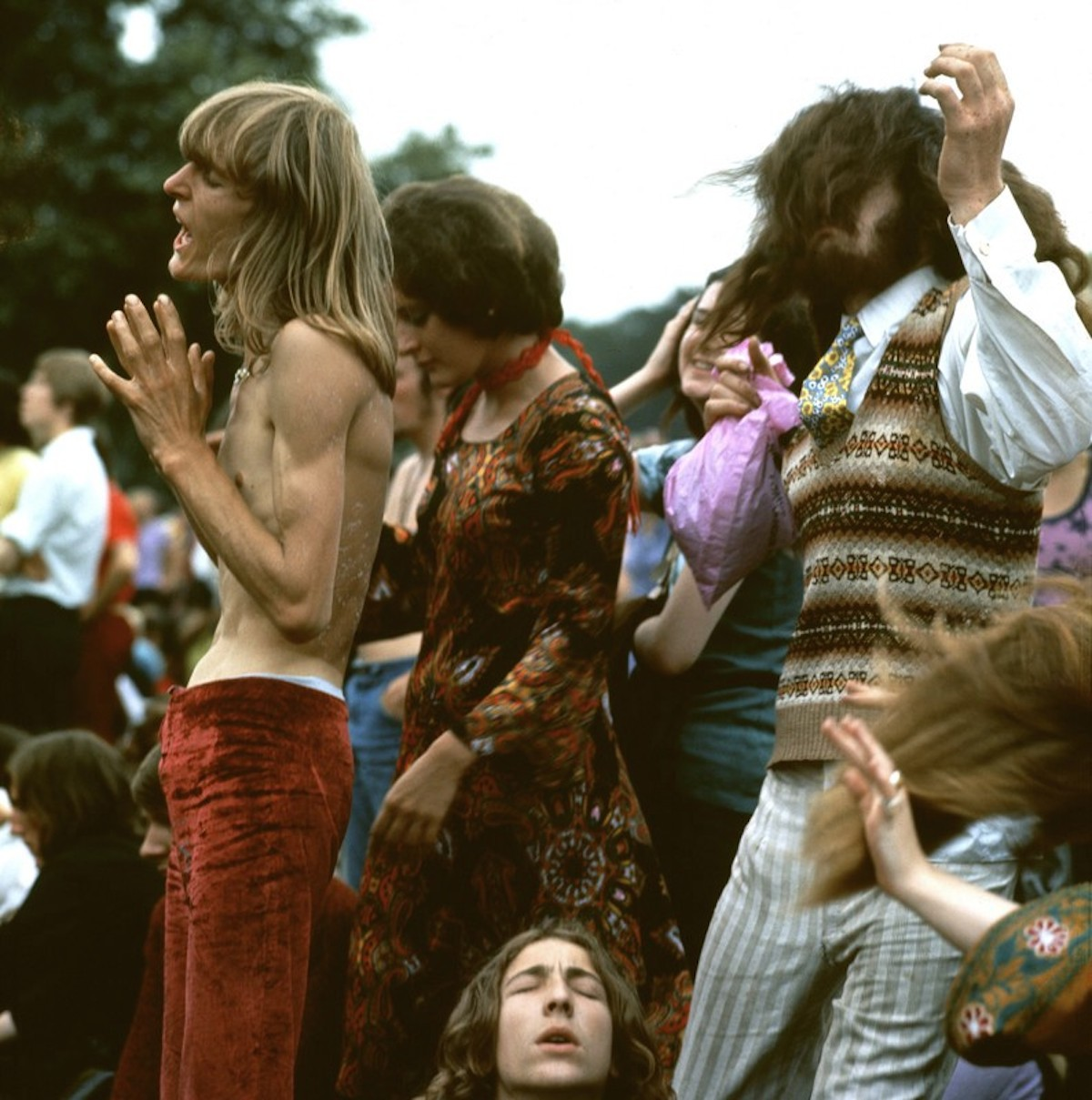 Jellett dancing, probably in Hyde Park, in the late sixties or early  seventies (