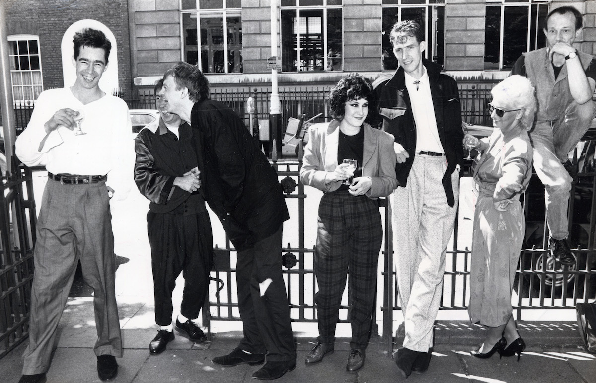 Line-up Of Punk Musicians. Ltor Jimmy Pursey Peter Shelley Mark Henry Pauline Murray Rob Blamire Jordan And Howard Devoto