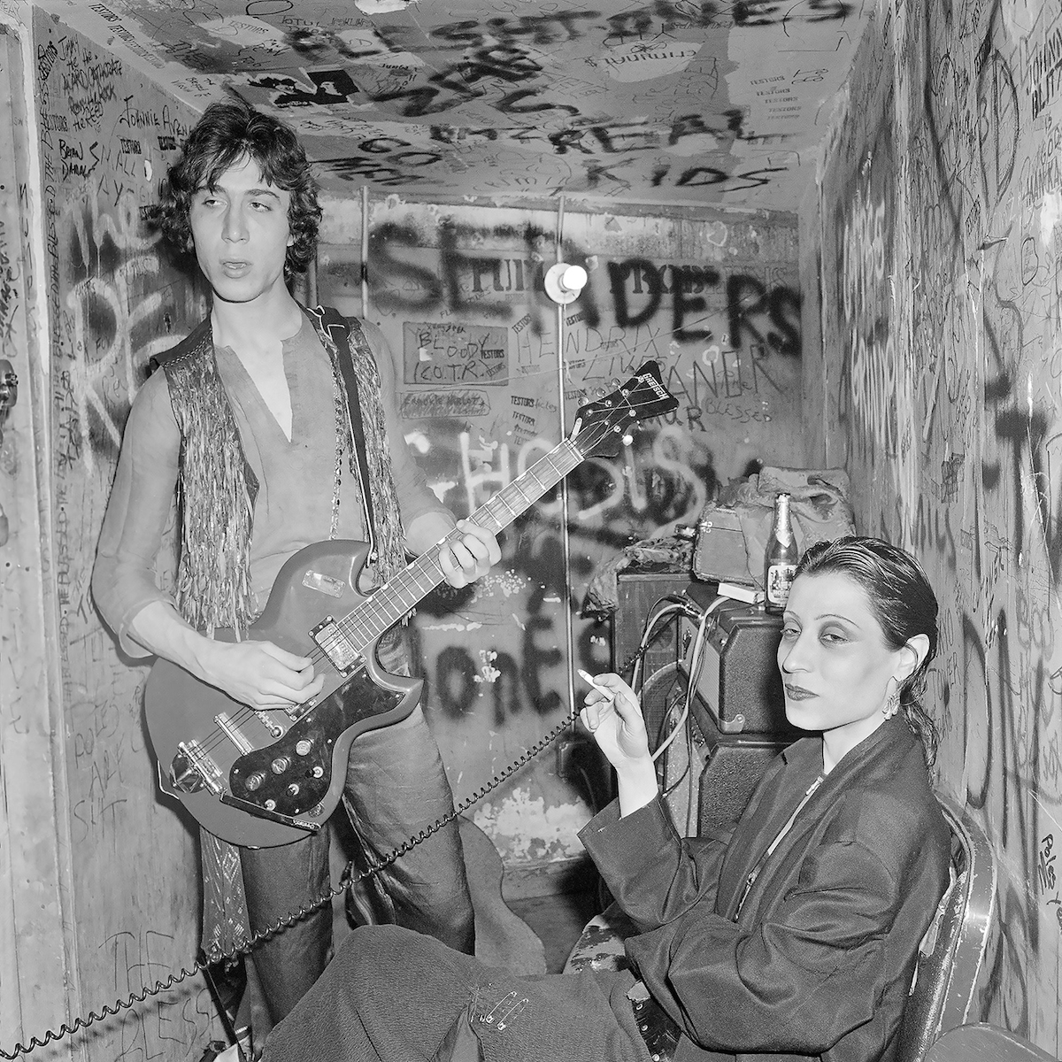Elda (Gentile) Stilletto and Guitarist at CBGB NY, NY April 1978