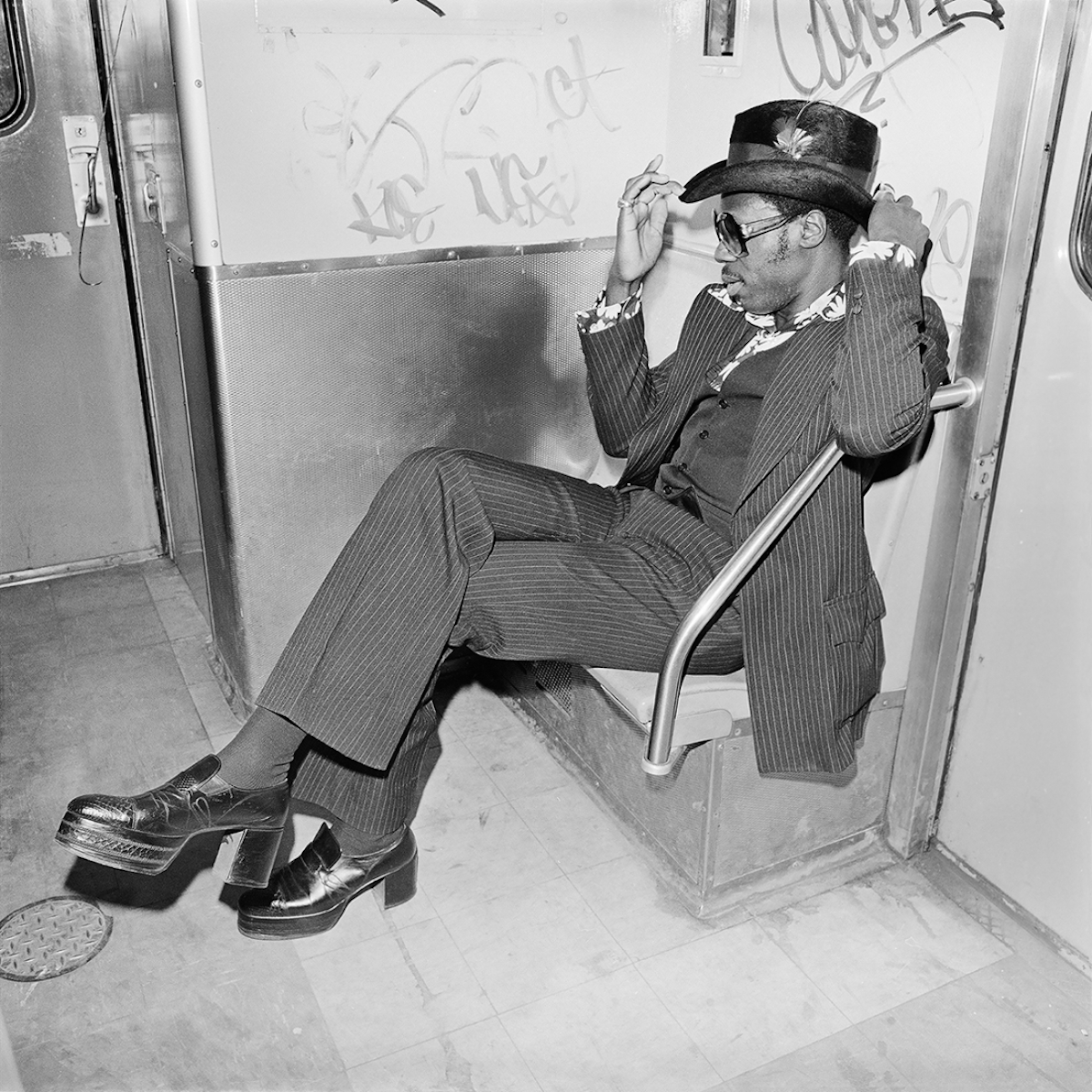 Jive Guy on Williamsburg Subway, Brooklyn NY, March 1978