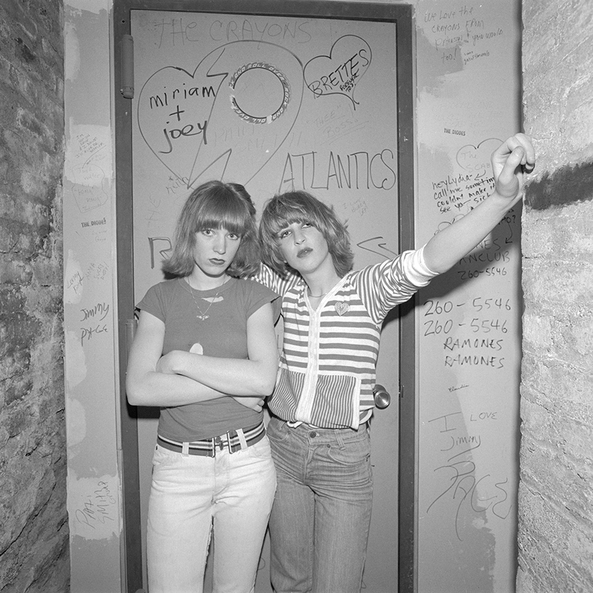 Two Blondes in a band at CBGB, NY, NY, March 1977