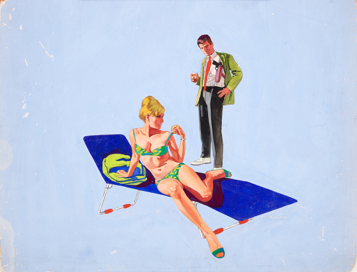 Renato Fratini_ The Girl Hunters_ 1967_gouache on board_copyright Lever Gallery_AW