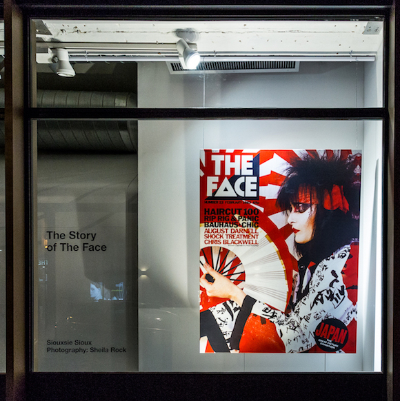 The cover of the February 1982 issue of The Face featuring Sheila Rock's striking image of Siouxsie Sioux at the Sonos store in Earlham Street. Photo: Lawrence Ajayi//