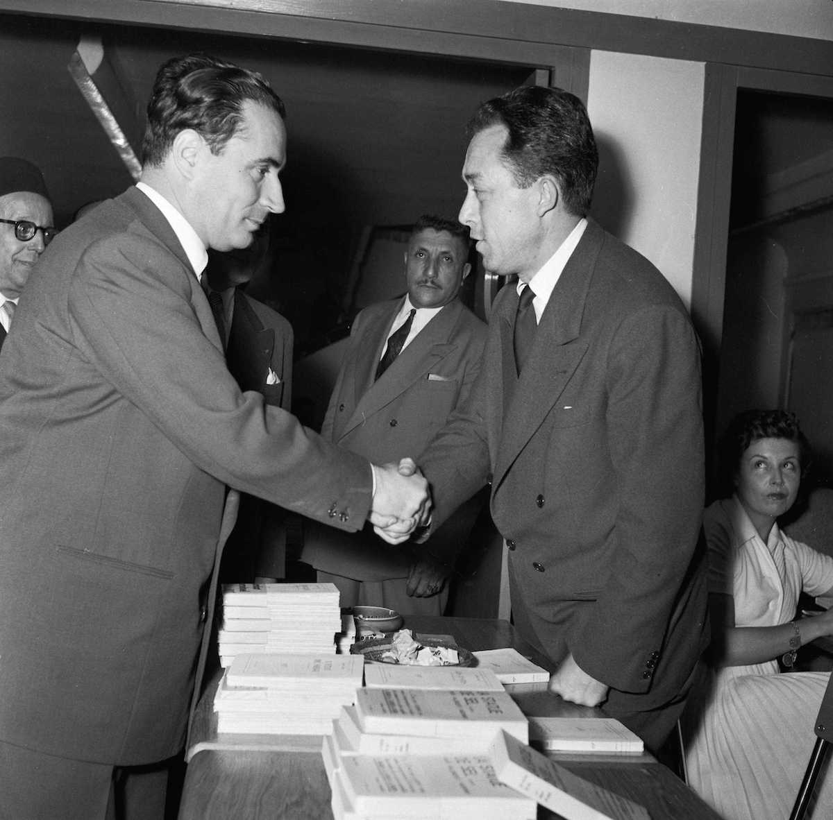 Francois Mitterand with Albert Camus 1954