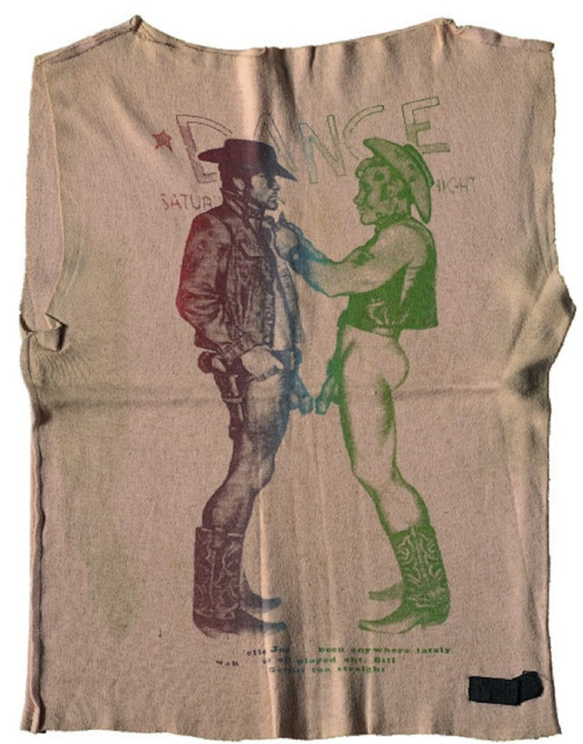 Seditionaries Cowboys t-shirt dating from 1976 sold at auction in 2013