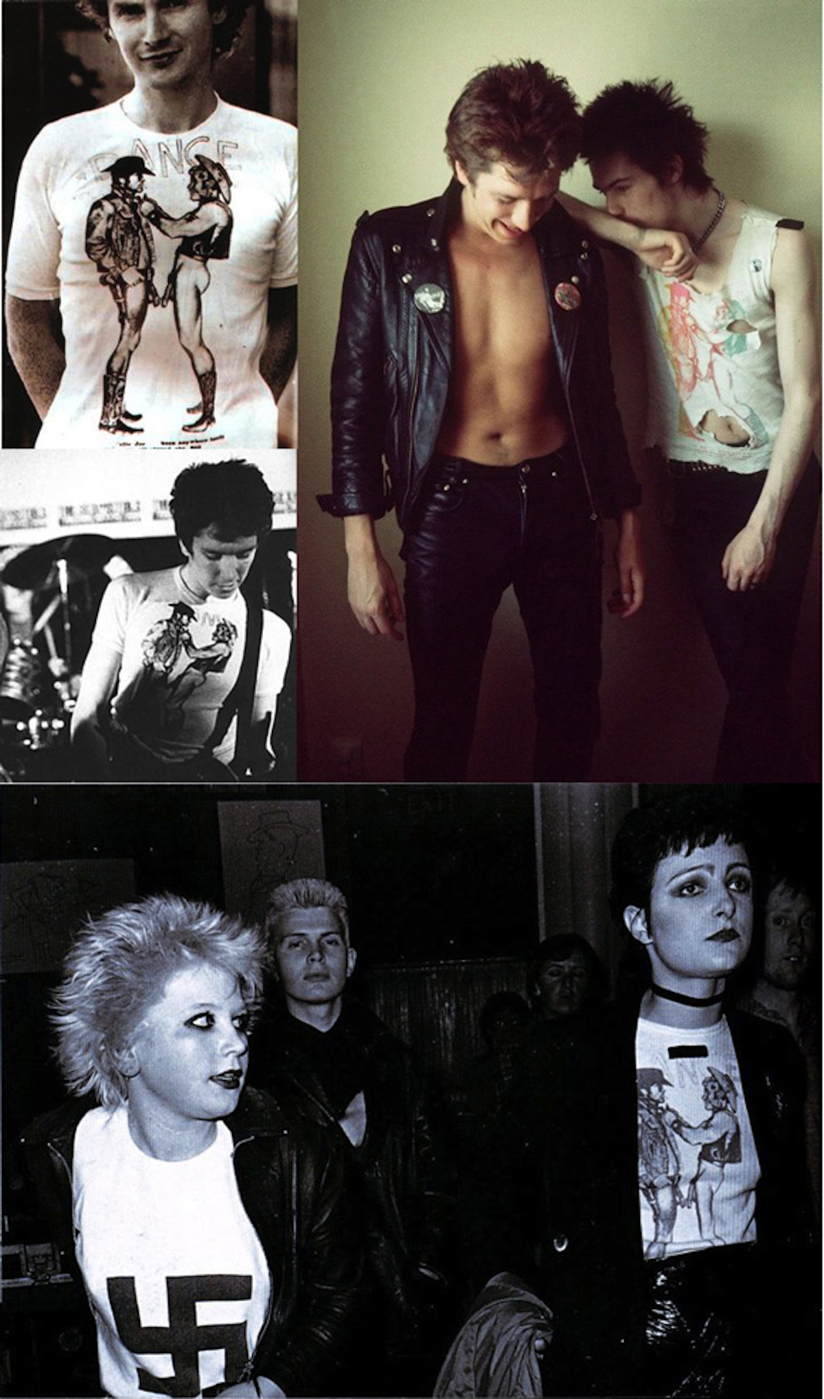 Wearing their Cowboys (clockwise from top left): McLaren 1975, Sid Vicious 1977, Siouxsie 1976, Steve Jones 1975. Photographs: Bob Gruen; Dennis Morris; Ray Stevenson; Mick Rock.