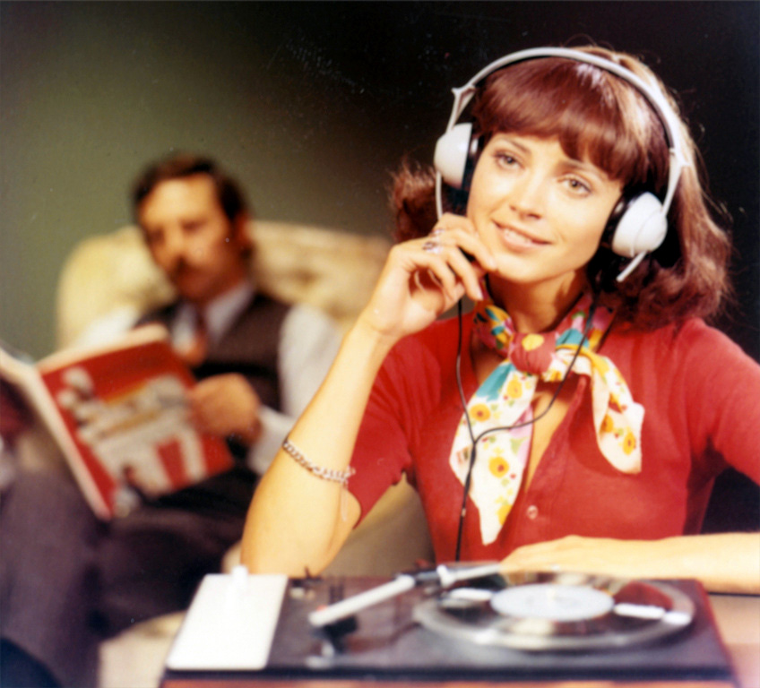 Image result for listening to records in my room 1980 vinyl headphones girl teenager