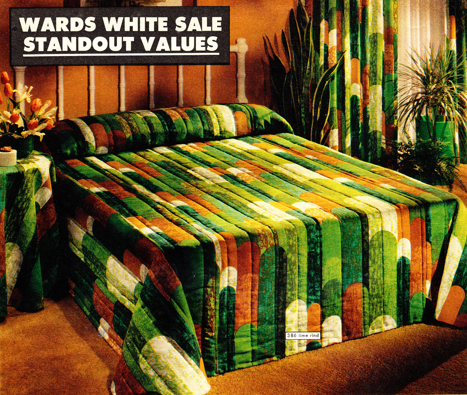 That 70 S Bedding Groovy Pillows Sheets From A Catalog Flashbak