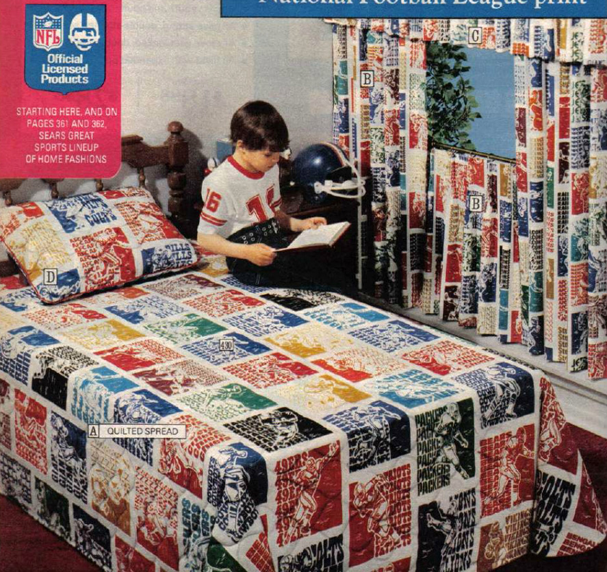 Groovy Pillows & Sheets from a Catalog