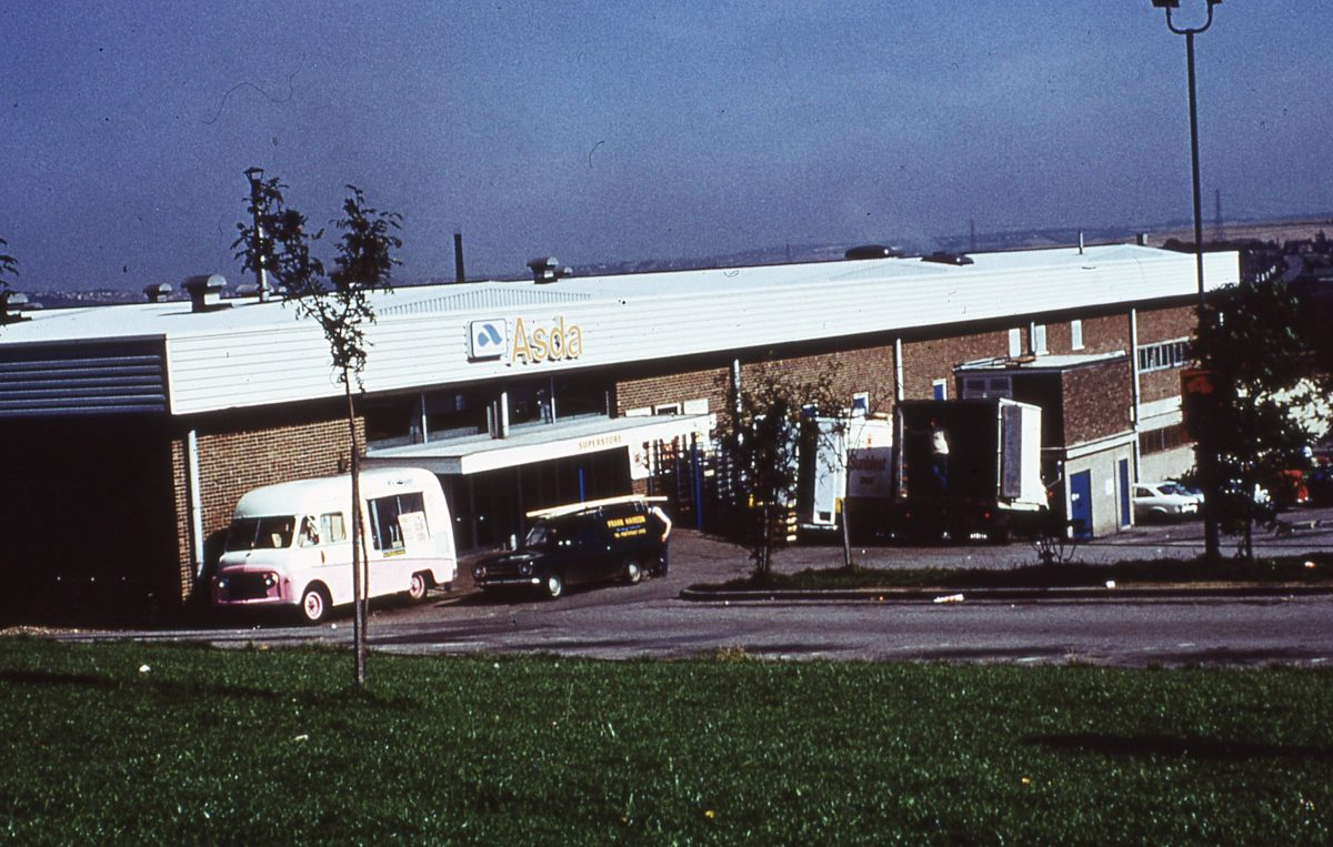 Asda Superstore, Dore House Industrial Estate, Handsworth, Sheffield, October 1974.