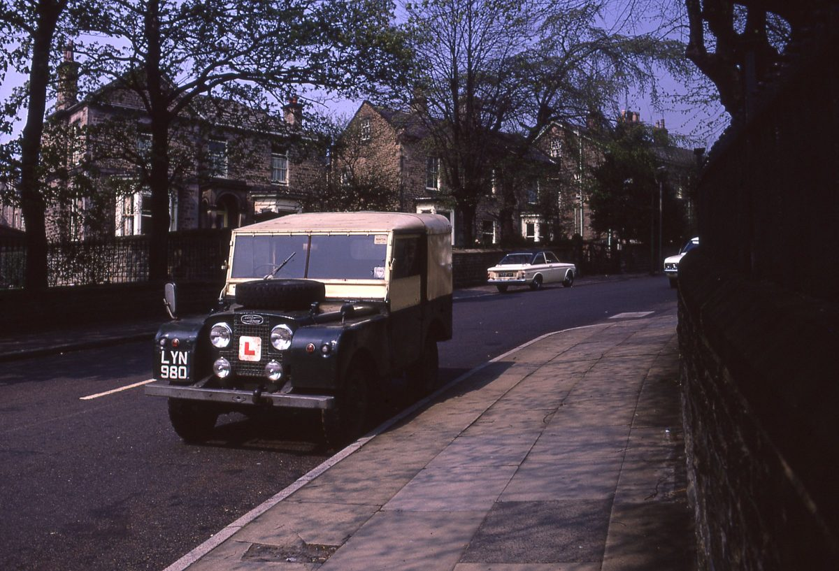 View up Taptonville Road, The Broomhill Study, Sheffield, May 1970.