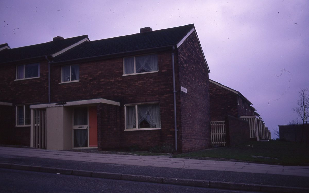 Housing, junction of Blackstock Road and Gaunt Road, Gleadless Valley, Sheffield, 1972.