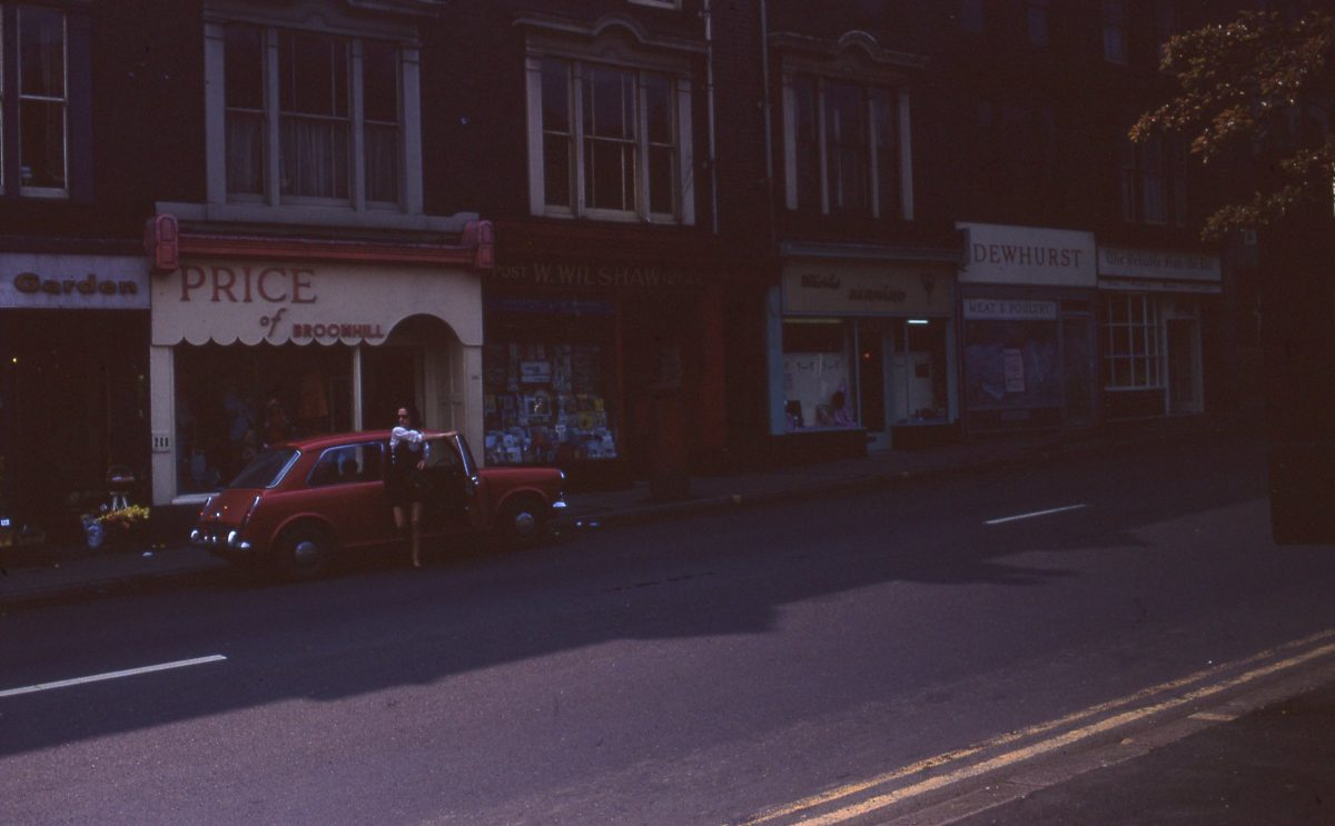 Fulwood Road shops, The Broomhill Study, Sheffield, May 1970.