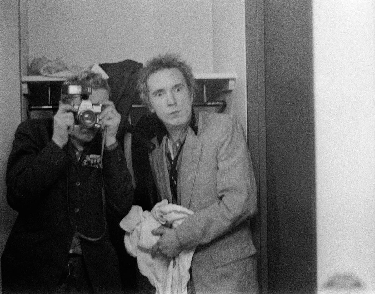 Joe Strummer and Johnny Rotten. Anarchy Tour. Plymouth. 1976