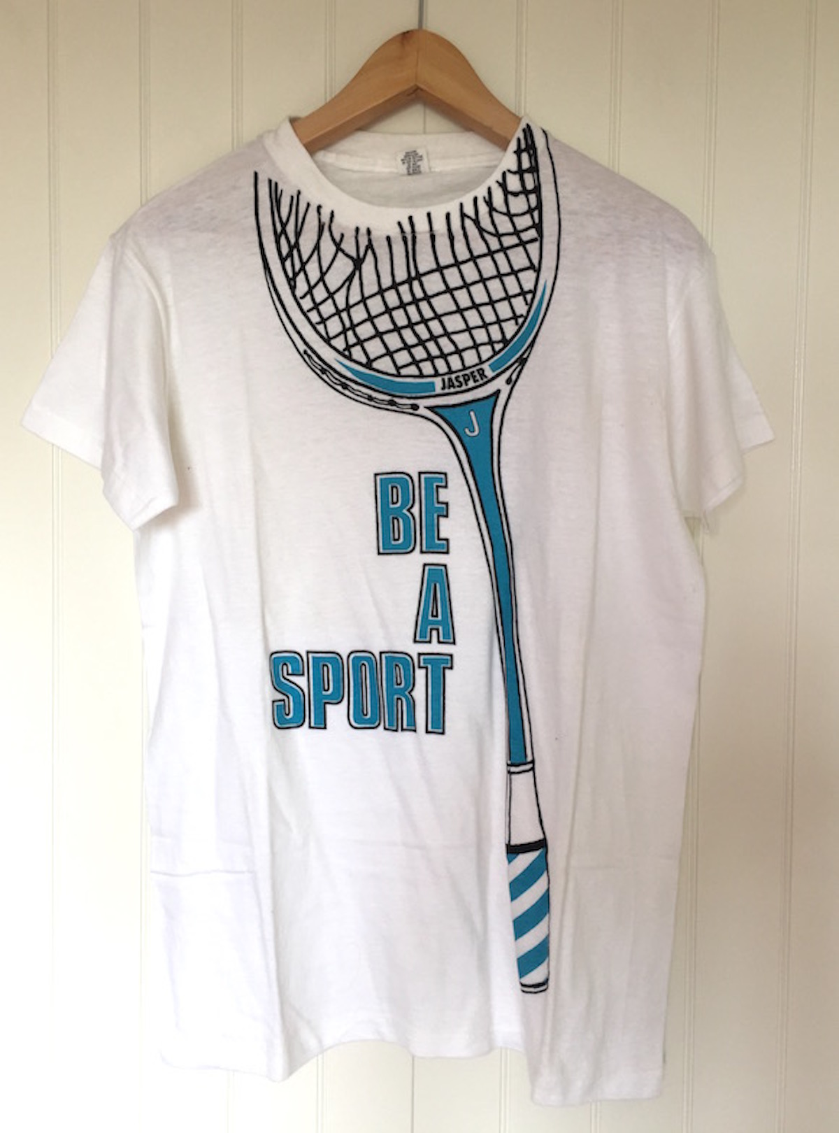 Be A Sport, t-shirt design Ian Harris for Jasper, 1979