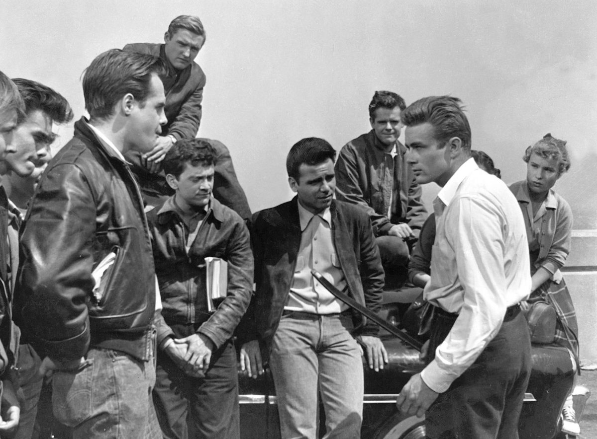 Mandatory Credit: Photo by Warner Corey Allen, Dennis Hopper, Frank Mazzola, James Dean Rebel Without A Cause - 1955