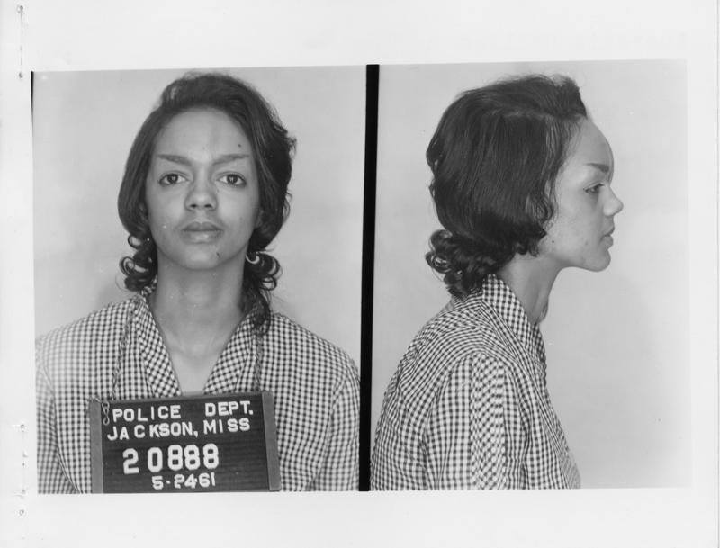 Description- Freedom Rider mug shot Date- Original created- 1961-05-25 Sov. Com. Index- Personal Name(s) Collins, Lucretia
