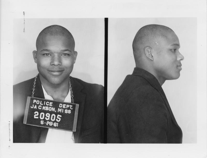 Description- Freedom Rider mug shot Date- Original created- 1961-05-28 Sov. Com. Index- Personal Name(s) Wright, Clarence Melvin