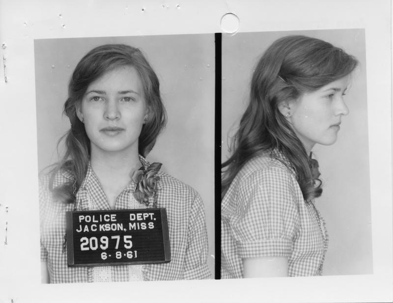 Description- Freedom Rider mug shot Date- Original created- 1961-06-08 Sov. Com. Index- Personal Name(s) Trumpower, Joan