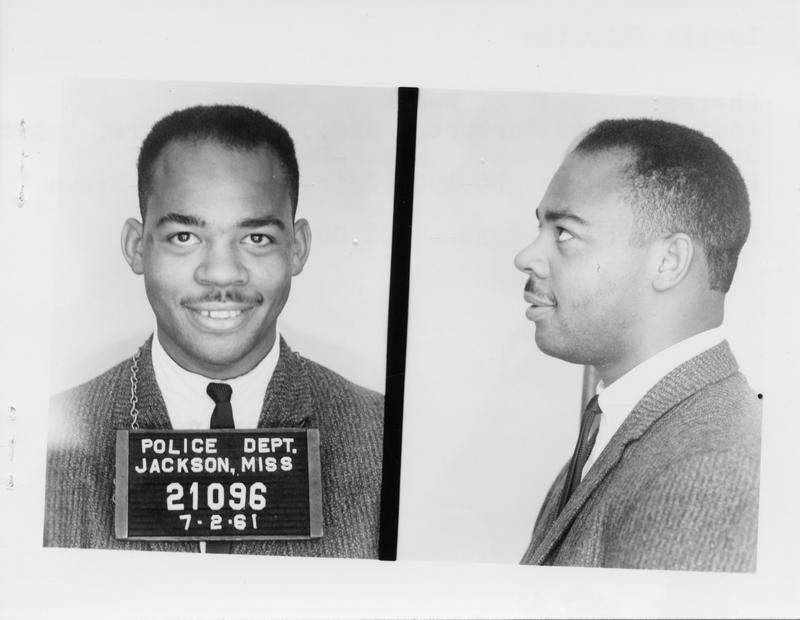 Description- Freedom Rider mug shot Date- Original created- 1961-07-02 Sov. Com. Index- Personal Name(s) Thornton, Leotis