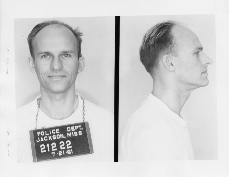 Description- Freedom Rider mug shot Date- Original created- 1961-07-11 Sov. Com. Index- Personal Name(s) Jorgensen, Russell F.