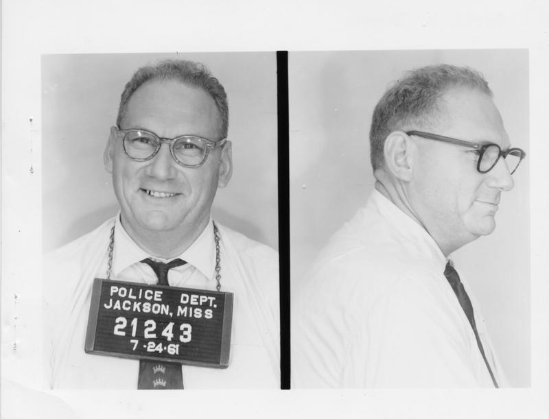 Description- Freedom Rider mug shot Date- Original created- 1961-07-24 Sov. Com. Index- Personal Name(s) Thomas, Cecil A.