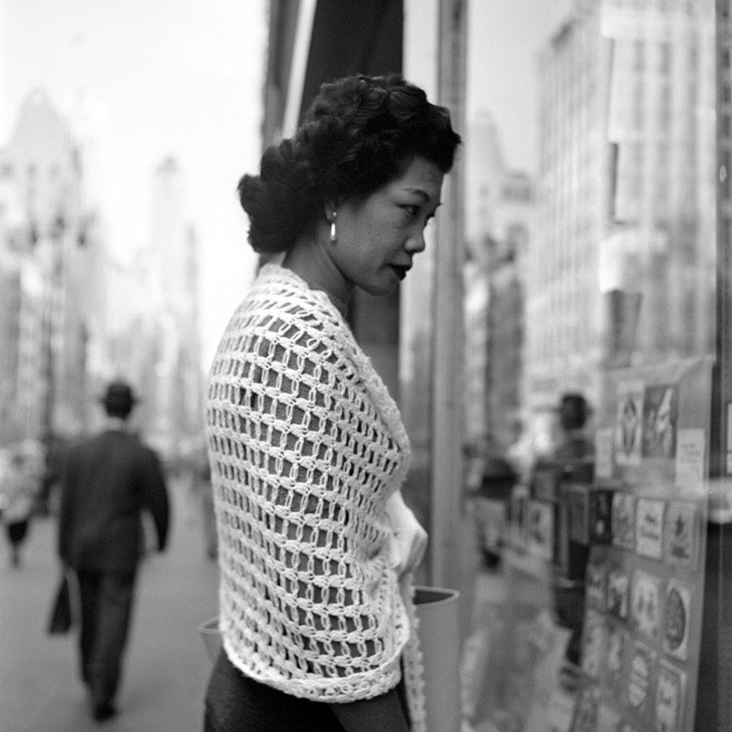 October 8, 1954, New York, N.Y. Photo by Vivian Maier, courtesy the Maloof Collection:Howard Greenberg Galleries