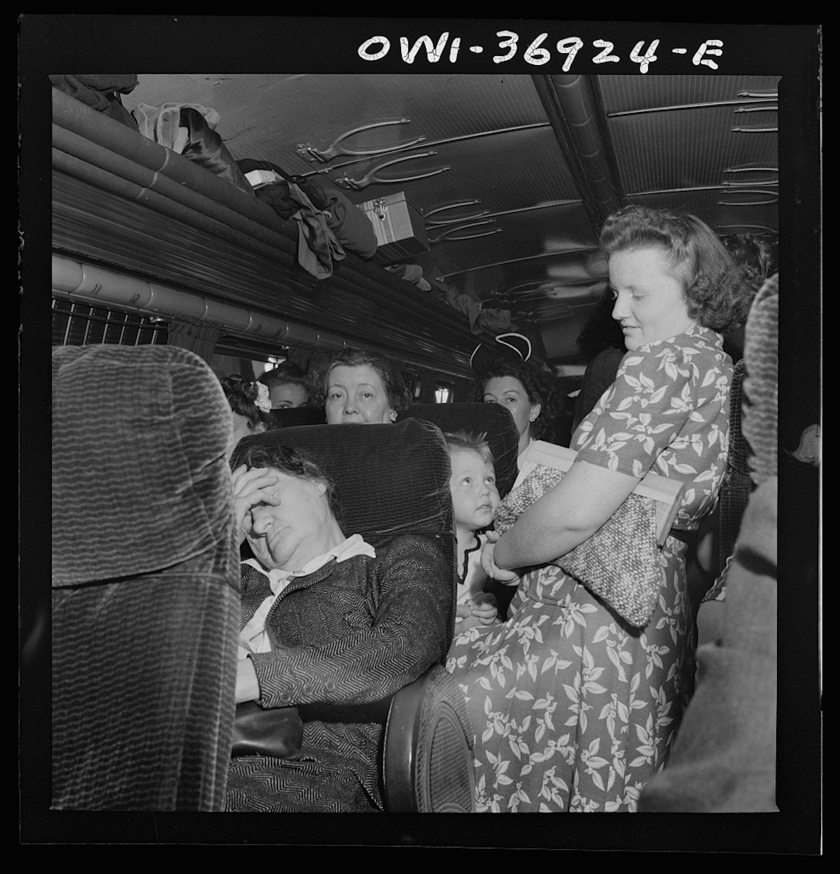 Passengers on the Greyhound bus going from Washington, D.C. to Pittsburgh, Pennsylvania, some of which were standing all the way